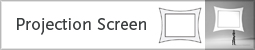 projection screen tab