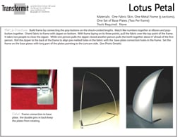 Lotus petal Freestanding Directions 255