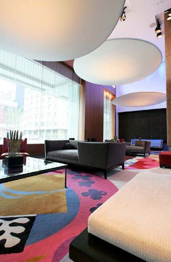 Client: Hotel Gansevoort Designer: The Stephen B Jacobs Group Ready-mades used: Circle Flats