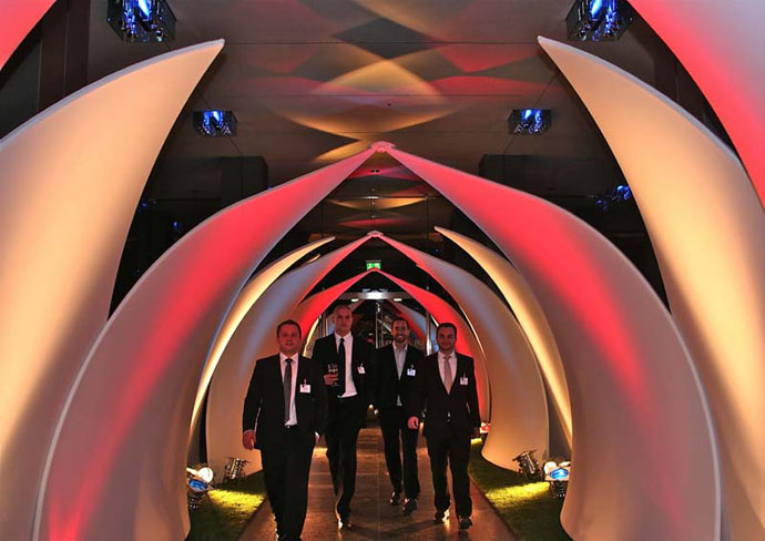 Client: Adam and Eva 2010 Design: Transformit Lotus Leaf Tunnel