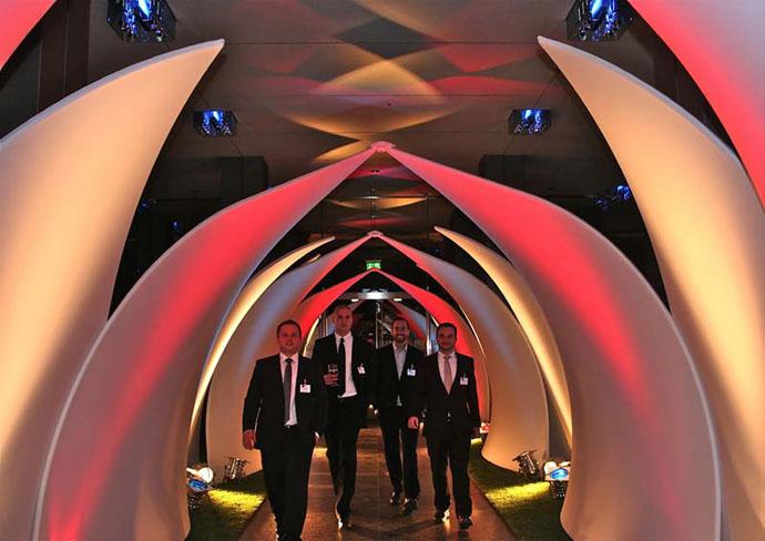 Client: Adam and Eva 2010 Design: Transformit Lotus Leaf Tunnel