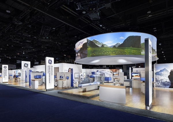 Fabric Structures, custom, projection screen, Client: Elite Exhibits, Design: McMillan Group
