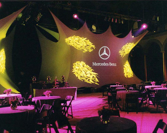 Fabric structures, custom, reveal, Client: Patti Coons Event Consulting
