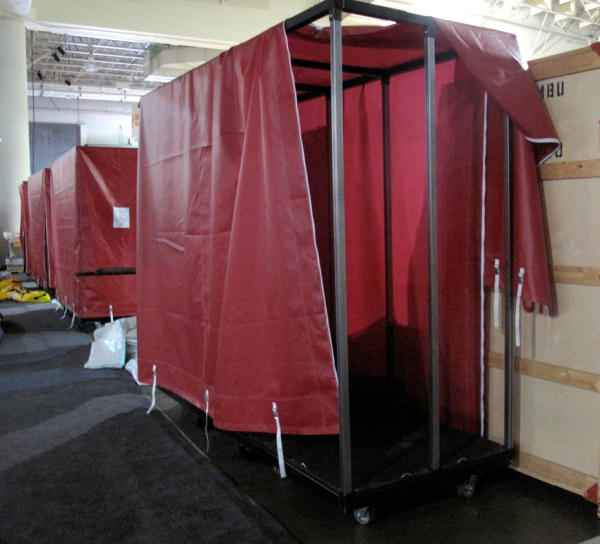 The North Face at Outdoor Retailer Winter Market 2011, shipping carts