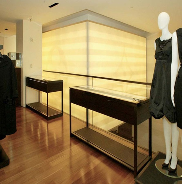 Fabric structures, custom, retail, Client: LVMH, Design: The Phillips Group