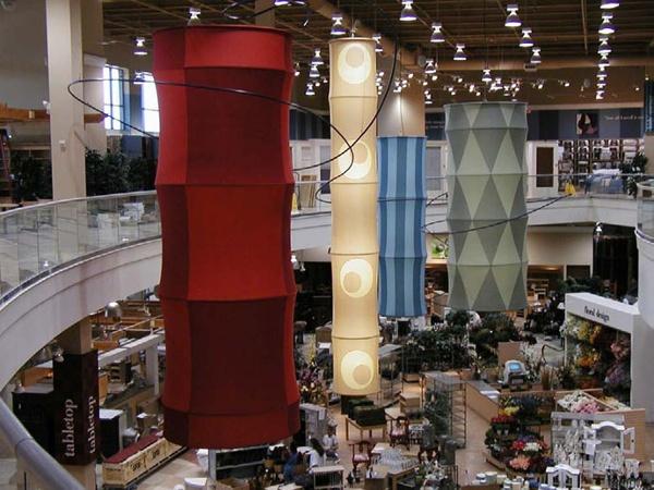 Fabric structures, custom, retail, White Hot Design