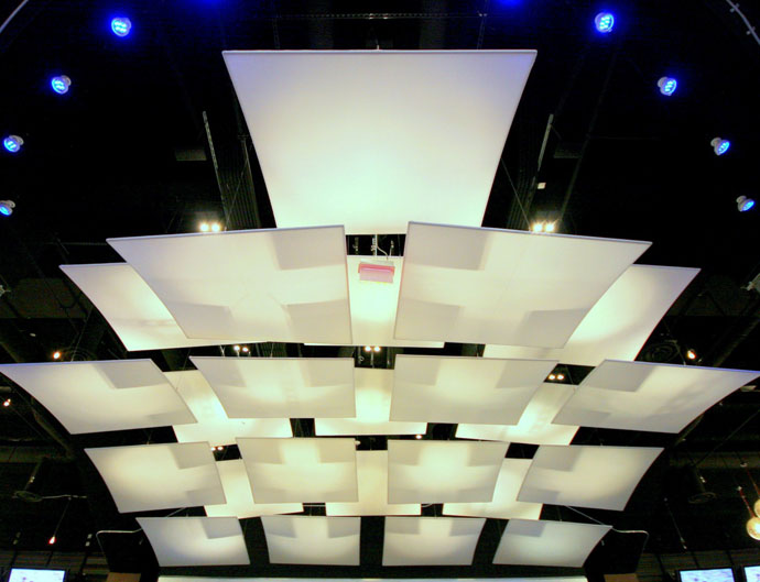 Fabric structures, custom, sports venue, lighting, Client: Manhattan Construction for the Dallas Cowboys, Design: HKS