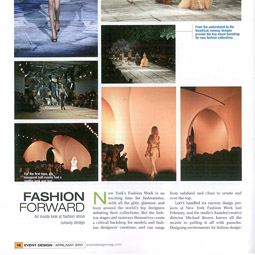 Event Design, April May 2010, pp18 19 1 255