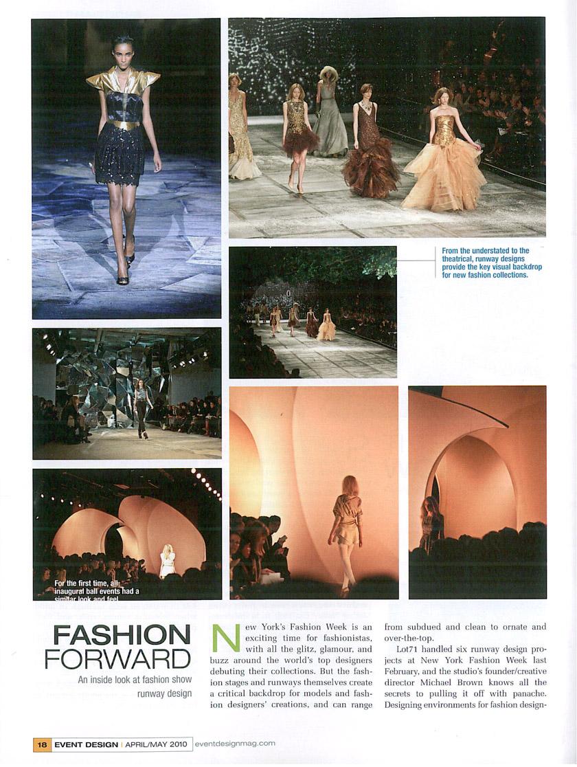 Event Design, April May 2010, pp18 19 1