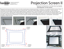Projection Screen II Directions 2011 255