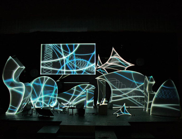 Fabric structures, ready-made, lighting, projection mapping, Rumba, Dream keeper, Cherub, Tremolo, Lotus Petal, Wings