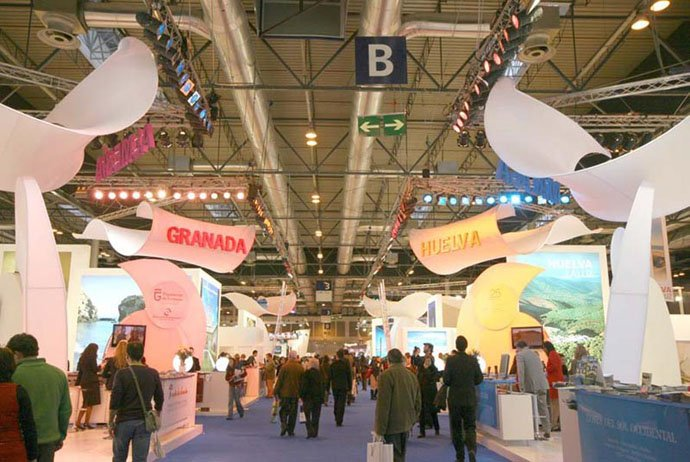 Fabric structure, Ready-made, Exhibits, Crescendo, FITUR 2009, Madrid, Spain by Decoestudio