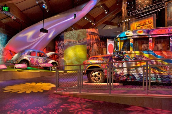 Fabric structures, custom, wavy sound panels, Client: Hadley Exhibits, Design: Gallagher and Associates.