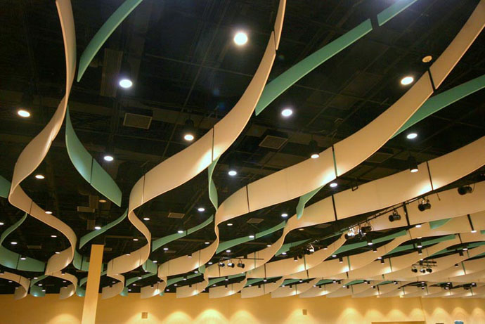 Fabric structures, custom, acoustic panels, Client: Mississippi Coast Coliseum and Convention Center, Design: Eley Guild Hardy Architects
