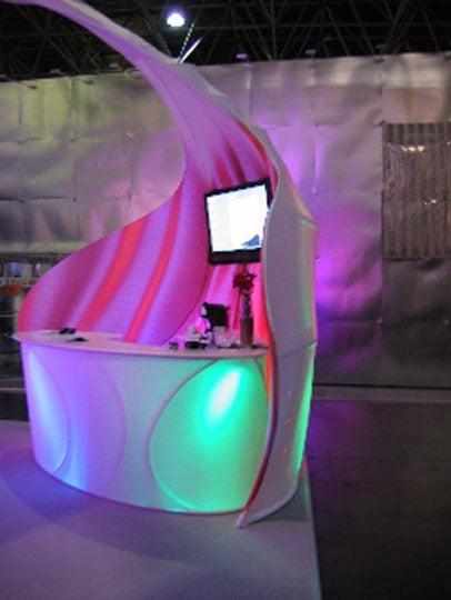 Fabric Structures, custom, exhibit, bar, Client: Transformit