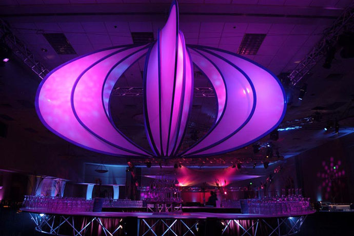 Fabric structures, ready-made, bar, Aztec.
