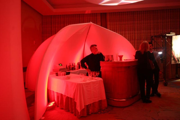 Fabric structures, ready-made, bar, Lotus Room, Build Boston Bash 2011