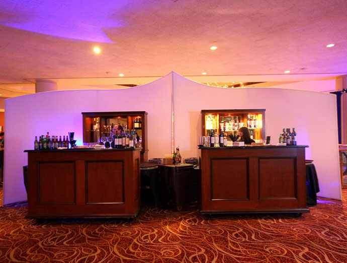 Fabric structures, ready-made, bar, Grace Note