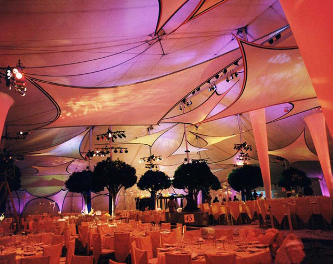 Fabric structures, ready-made, canopy, events, wings, ice needles, Motion Picture Academy of America.