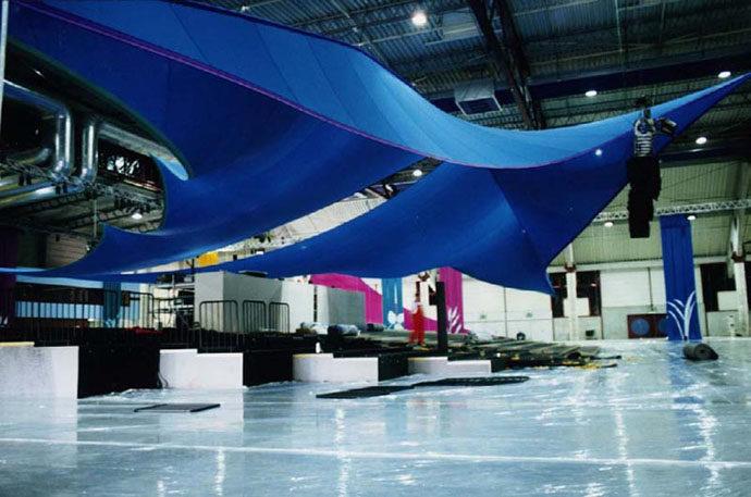 Fabric structures, custom, canopy, exhibit
