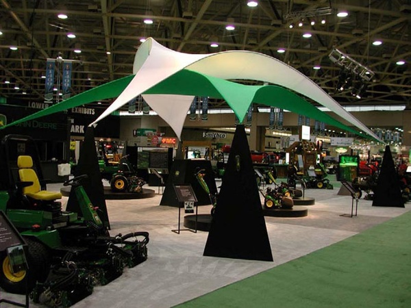 Fabric structures, custom, canopy, exhibit, Client: Midwest Exhibits