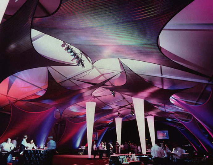 Fabric structures, ready-made, event, Wings, Ice Needles, Design: Daryl's by Design