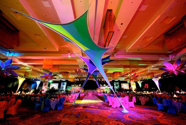 Fabric structures, ready-made, entryways, Leaflets, Client: Foxwoods Resort Casino