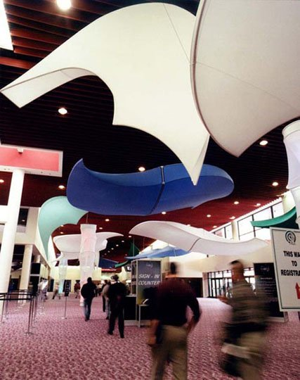 Fabric structures, ready-made, entryways, Ariels, Dream Keepers, Dreamsicles