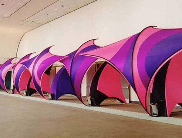 Fabric structures, ready-made, entryways, Wave Drops, Sentry Waves, Client, The Special Event