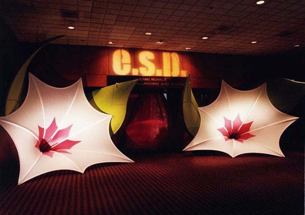 Fabric structures, ready-made, entryways, Morning Glory