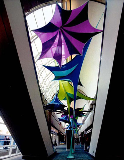 Fabric structures, ready-made, entryways, Morning Glory, Dazzle, Leaflet
