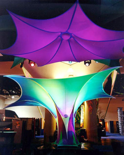 Fabric structures, custom, kinetics, Client: Transformit