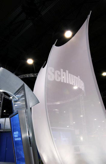 Fabric structures, custom, kinetics, Client: Exhibitgroup/Giltspur