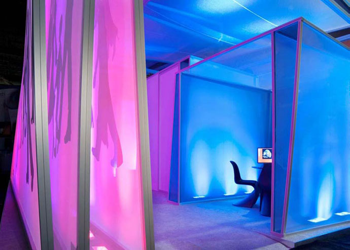 Fabric structures, ready-made, Dynamics, Ray Room