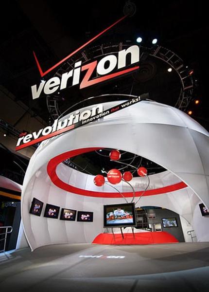 Fabric structures, custom, Client: Verizon