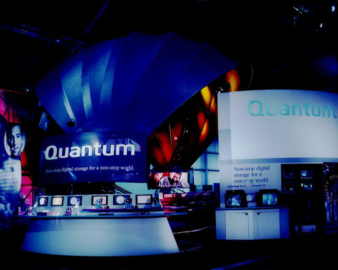 Fabric structures, custom, exhibit, rooms, Client: Quantum