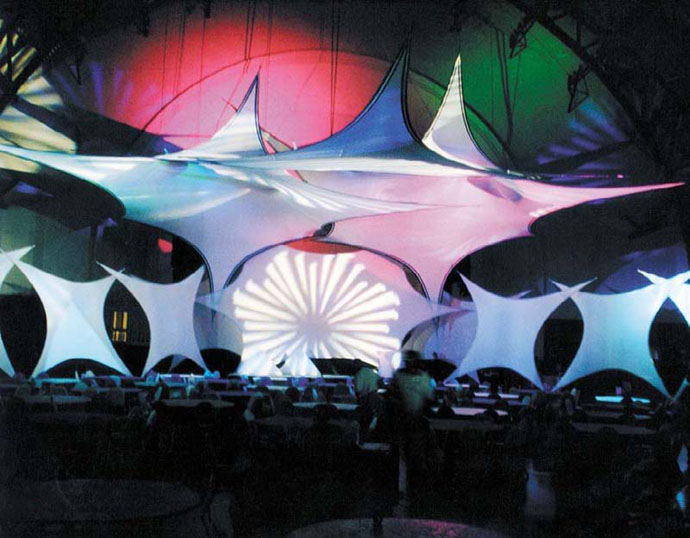 Fabric Structures, Ready-Made, Stages, Dallas Star 6, Florida Bird, Diamond, Airplane.