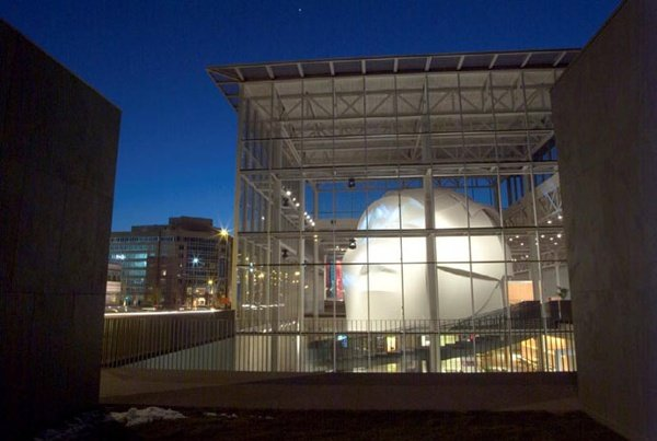 Fabric structures, custom, theater, museum, HealthSpace Cleveland