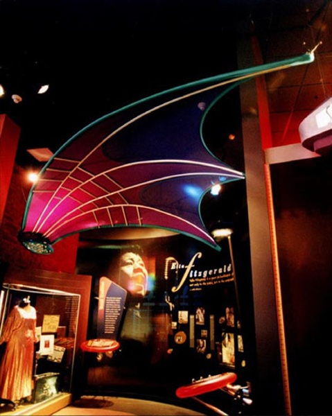 Fabric structures, custom, museum, American Jazz Museum, Kansas City, MO