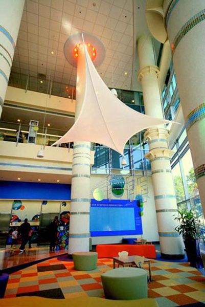 fabric structure, ready-made, architecture, Levine Children's Hospital, Charlotte, NC