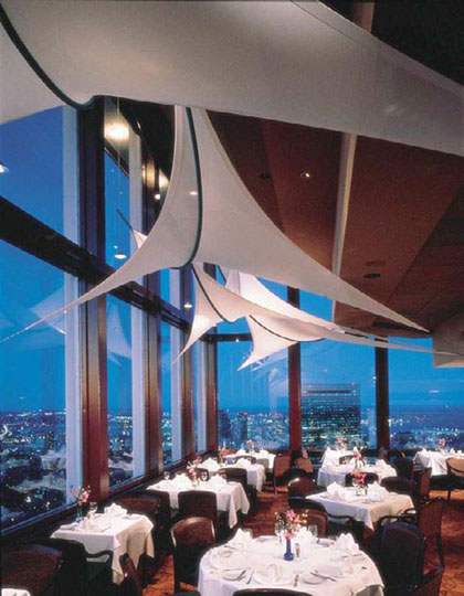 fabric structure, Ready-made, architecture, hospitality, Top of the Hub Restaurant, Boston, MA