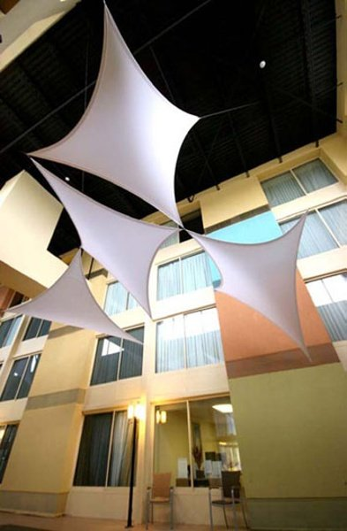 fabric structure, Ready-Made, architecture, atrium, Sentry, Wings.