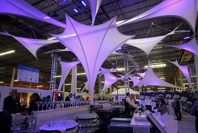 fabric structure, ready-made, hospitality, HI Connect Event, Nashville, TN.