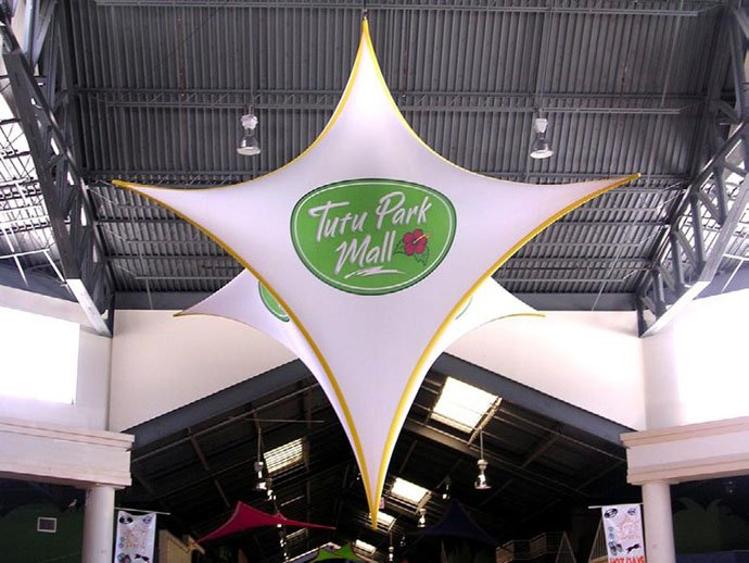 Fabric structures, Ready-Made, malls, Star Drop, Client: Tutu Park Mall.