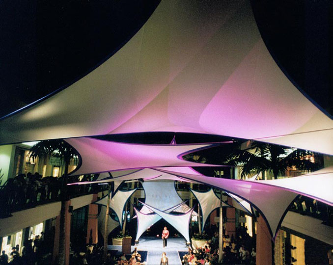 Fabric structures, Ready-Made, malls, Wings, Client: Ala Moana Mall