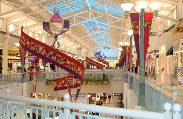 Fabric structures, custom, malls, Client: Center Stage Productions