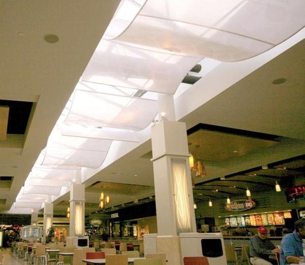 Fabric structures, custom, lighting, malls, Client: Mulvanny G2 Architecture.