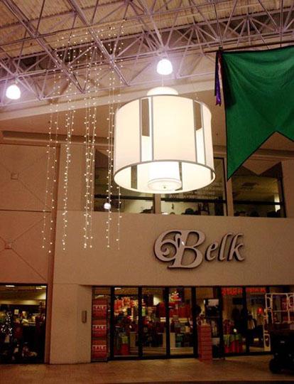 Fabric structures, custom, lighting, malls, Client: Simon Properties, Design: Techlite Corp