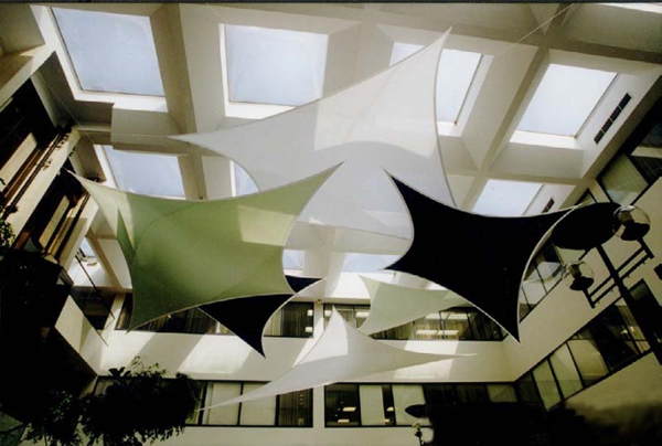 Fabric structures, custom, office, wings, Gateway