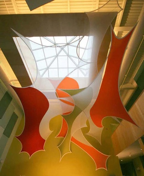 Fabric structures, custom, public spaces, wings, Husson University